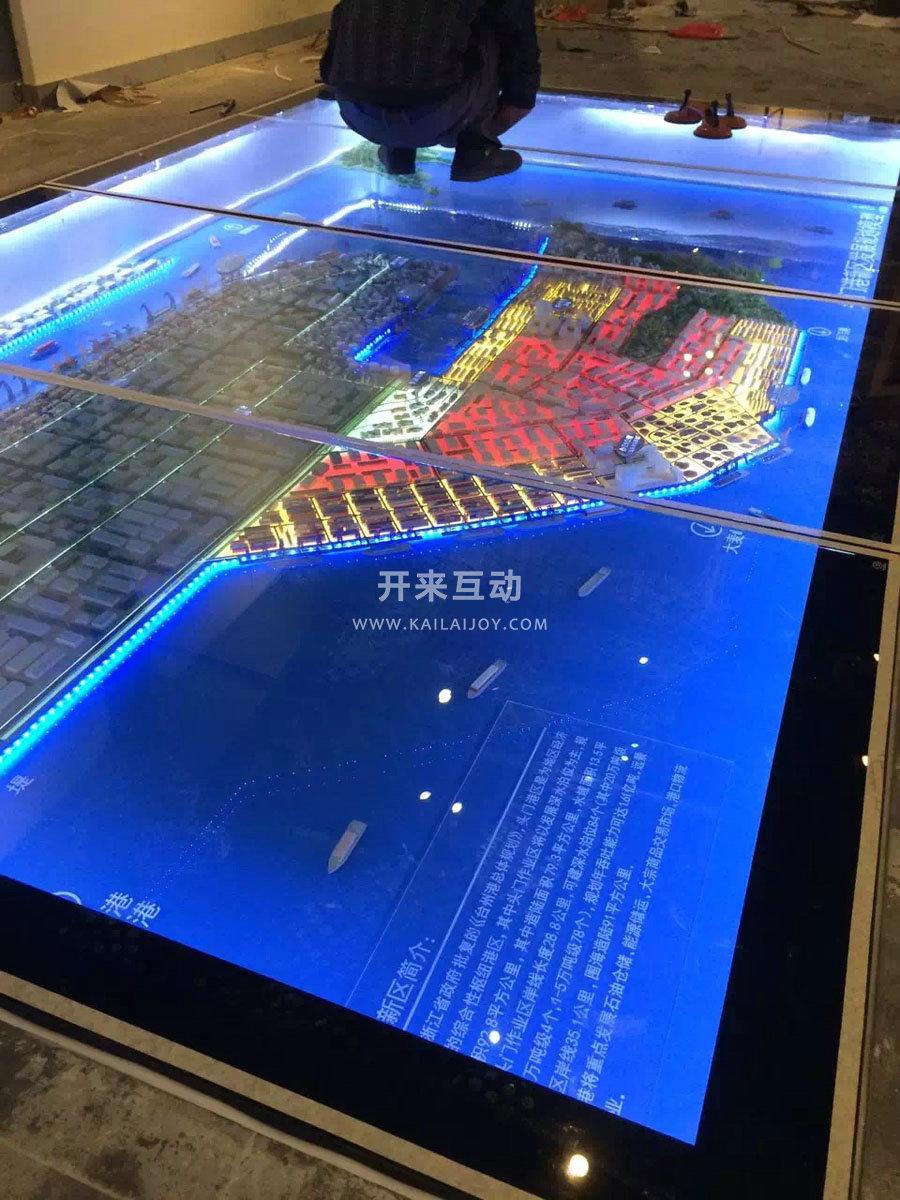 又称为多媒体沙盘和多媒体数字沙盘,通过墙面或者地面大面积led播放图片